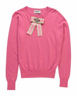 Rereact fancy bow sweater miami pink Essentiel
